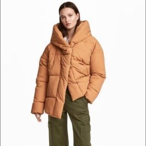 H&M Quilted Oversize Padded Puffer Hooded Jacket Size 6